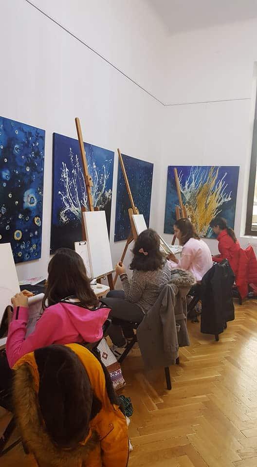 Pașii copiilor prin artă