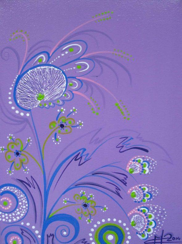 Buchet violet