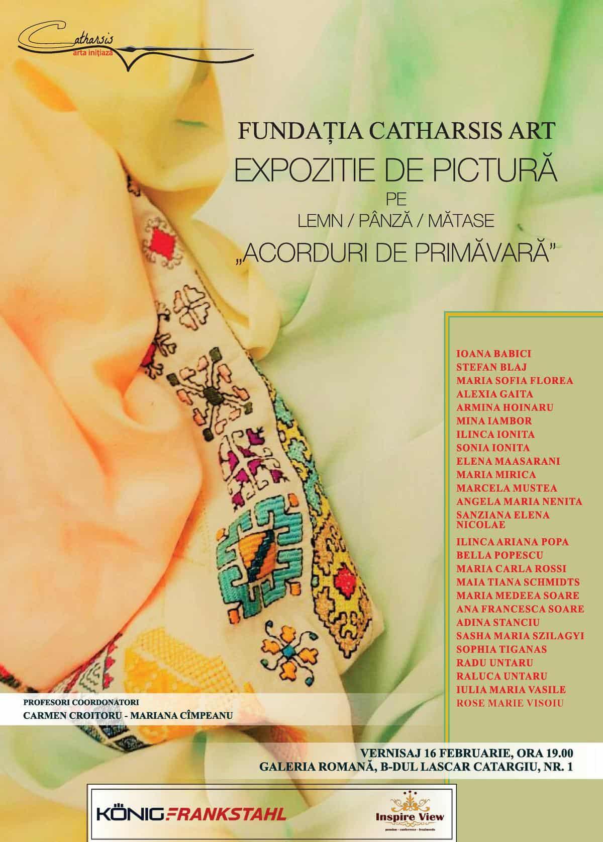 """Expoziția de pictură  """"Acorduri de primăvară"""" 16 februarie 2017"""